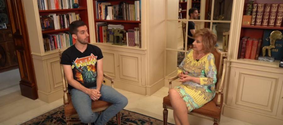 María Teresa Campos y David Broncano en el programa 'Enredados'