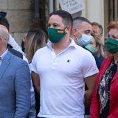Santiago Abascal en un mitin en Lugo