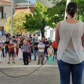Concentración celebrada en Navas de Estena en apoyo a su alcalde