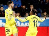 Fer Niño celebra un gol junto a Samu Chukwueze