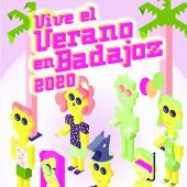 Cartel de 'Vive el verano en Badajoz'