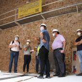 L´alcalde José Benlloch i alguns regidors han visitat la finalització de les obres.