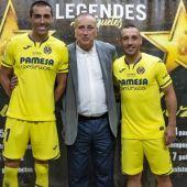 Roig junto a Cazorla y Bruno