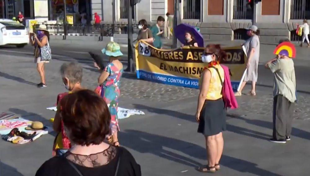 Concentración en Madrid contra la violencia machista