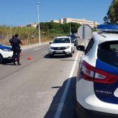 Imagen de archivo de un control de seguridad de la Policía Local de Elche.