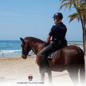 Unidad de Caballería de la Policía Local en Villajoyosa
