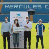 Presentación del acuerdo entre Hércules Paralímpico y Fundación 'la Caixa'