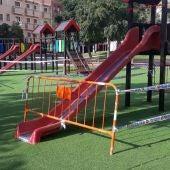 Parque infantil de Crevillente cerrado temporalmente.