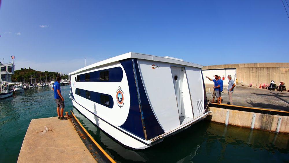 Imagen del primer barco escuela del Club Náutico de Oropesa del Mar.