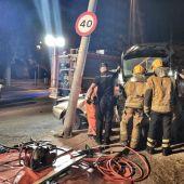 Accidente de circulación en Elda.