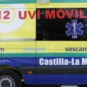 Hasta el lugar del accidente acudió una UVI móvil
