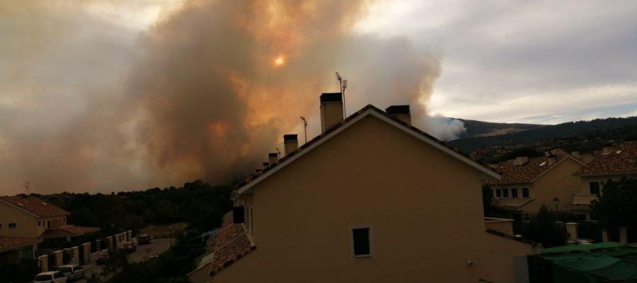 Imagen del incendio de Robledo de Chavela