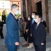 Juan Vivas junto al Rey Felipe VI