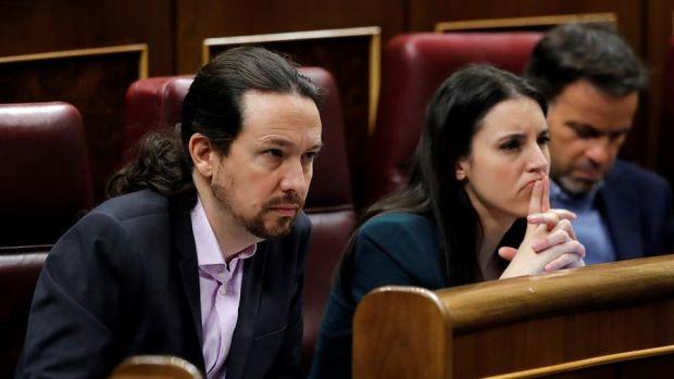 Pablo Iglesias, Irene Montero y Jaume Asens, en una imagen de archivo