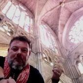Fran Contreras en la Catedral de León
