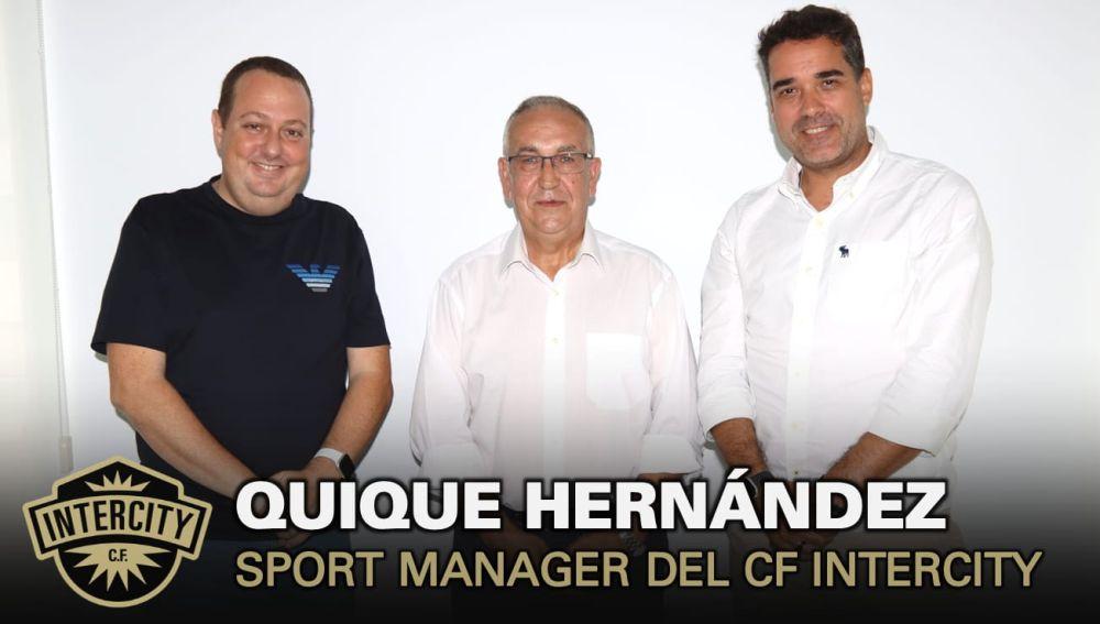 El Intercity presenta a Quique Hernández como director deportivo