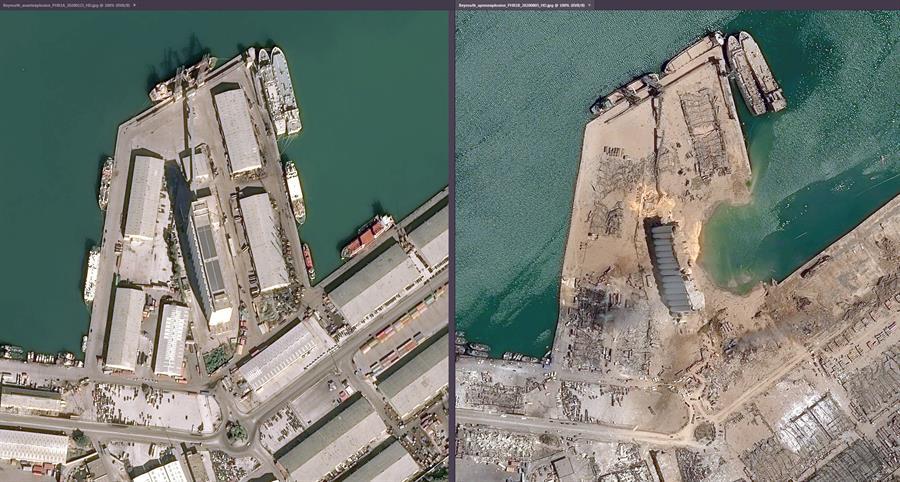 La España agosteña: Las imágenes del puerto de Beirut tras la explosión, protagonistas de las portadas