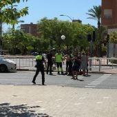 El SAMU atiende al herido, mientras que la Policía reconduce el tráfico
