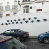 Maceteros de flores en Arcos