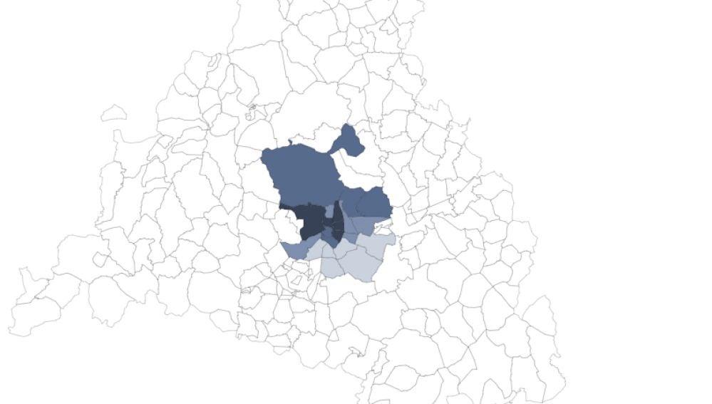 Renta per cápita media en los distritos de Madrid