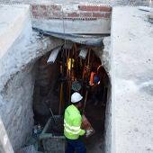 Obras de adecuación en la zona del Arco del Torreón