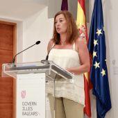 La presidenta del Govern balear, Francina Armengol, anuncia nuevas medidas sanitarias para controlar la pandemia.