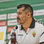Jorge Almirón, en su presentación como entrenador del Elche CF.