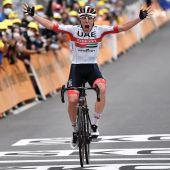 Pogacar gana la 9º etapa del Tour de Francia y Roglic se viste de amarillo