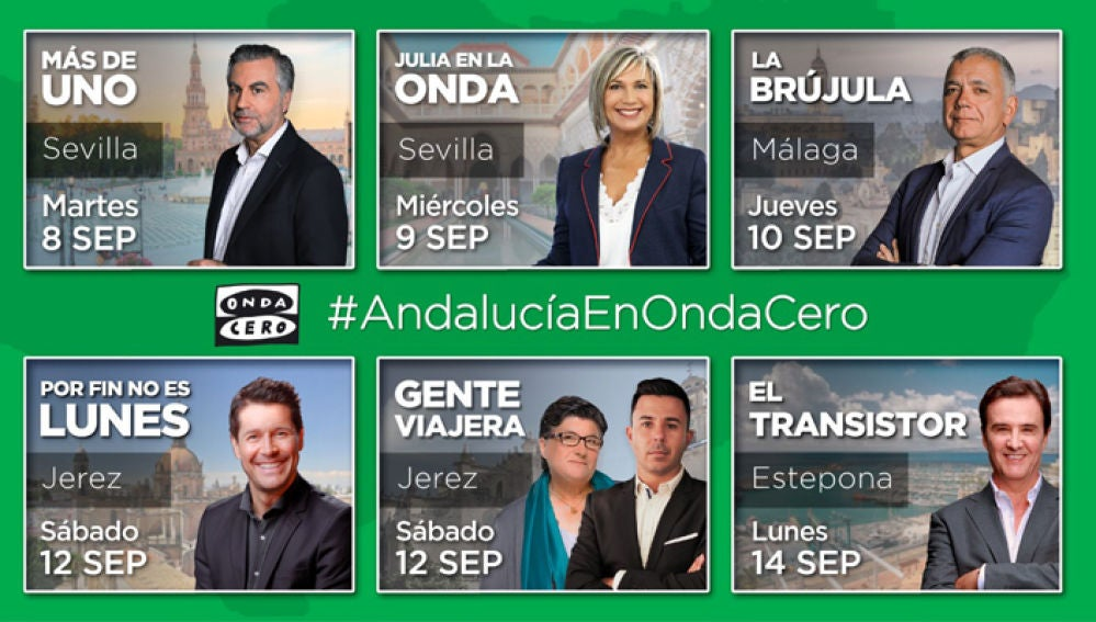 Onda Cero estrena su nueva temporada en Andalucía