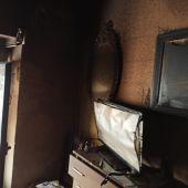 Estado en el que se quedó la vivienda tras el incendio