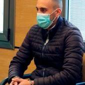 El acusado durante el juicio que se celebra en la Audiencia de Ciudad Real