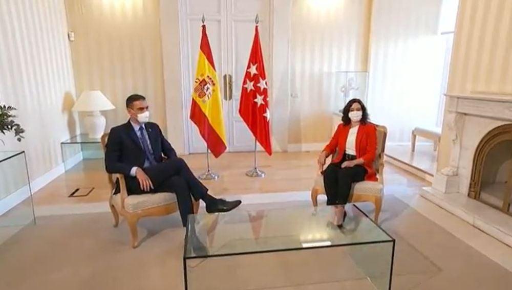 Díaz Ayuso y Pedro Sánchez