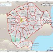 Mapa del término municipal de Elche.