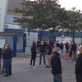 Concentración en las instalaciones de Alestis en El Puerto
