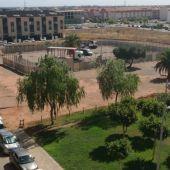 El recinte taurí instal-lat al costat del jardí Jaume I.