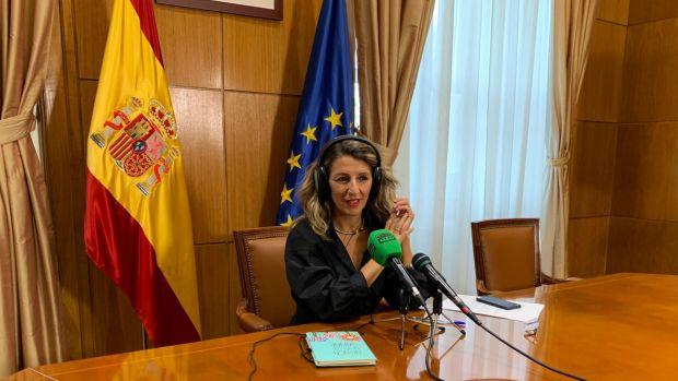 """Yolanda Díaz: """"Habrá ERTE mientras sea necesario, no vamos a dejar caer a ninguna empresa ni a ningún trabajador"""""""