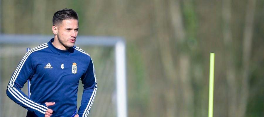 Luismi Sánchez no usa su casco de protección en los entrenamientos.