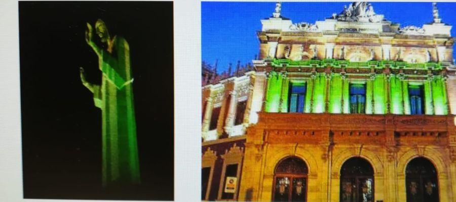 El Cristo y el Palacio Provincial se iluminarán de color verde con motivo del Día del Farmacéutico
