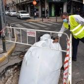 Obras para la renovación del colector de la calle Calatrava