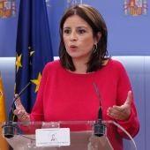 Adriana Lastra, en el Congreso de los Diputados