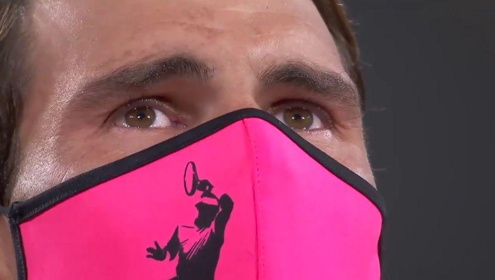 Los ojos de Rafa Nadal tras vencer en Roland Garros