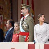 Los reyes durante el desfile del 12 de octubre, este año cancelado por el coronavirus