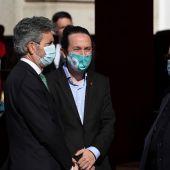 Pablo Iglesias en el acto de la Fiesta Nacional