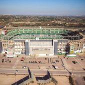 Vista aérea del estadio Martínez Valero de Elche.