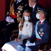 La princesa Leonor con su padre el rey Felipe VI