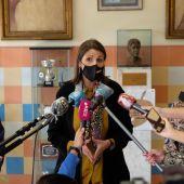 Mercedes García Paine en su comparecencia en el CEIP Revello de Toro