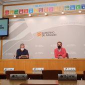 El director general de Salud Pública, Francisco Javier Falo, y el director general de Asistencia Sanitaria, José María Abad,