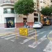 Obras en la calle Lepanto de Elche.