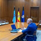 Reunión por videoconferencia da Xunta de goberno da Deputación