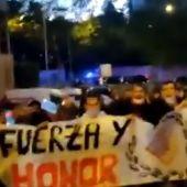 Imagen de las pancartas en la protesta de San Blas.
